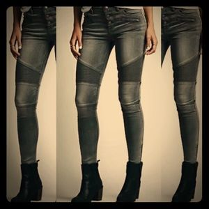 FREE PEOPLE skinny moto style denim jeans